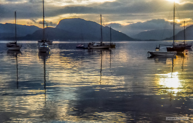 Plockton Bay at sunrise.