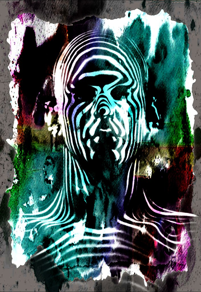 Zebra Man Abstract Digital Abstract Smart Photo Editor