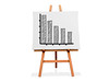 Art Easel Flow Chart Bar Graph Lower | by One Way Stock