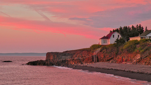 pink sunset canada clouds novascotia atlantic coastal bayoffundy hallsharbour