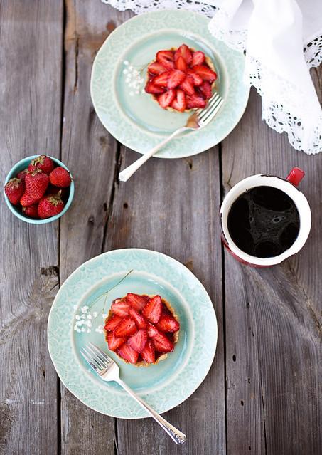 Strawberry tartlettes