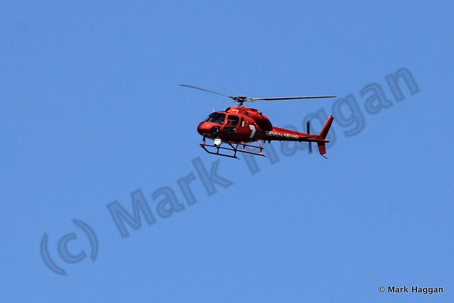 Seven News helicopter at the International Fleet Review, Sydney, October 2013