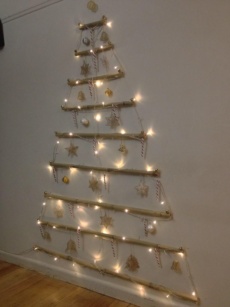 Wall Christmas Trees.Vianne S Rl 2d Wall Christmas Tree Using Bamboo Fishing W