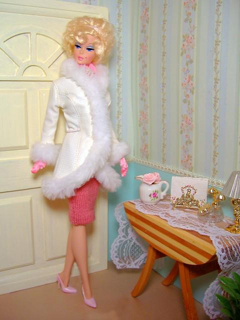Priscilla in winter white #1
