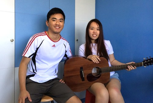 Private guitar lessons Singapore Candice
