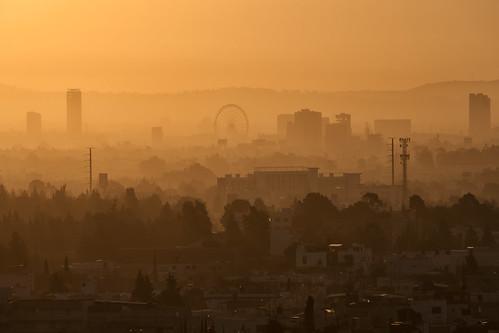 Puebla, Mexico, dawn haze