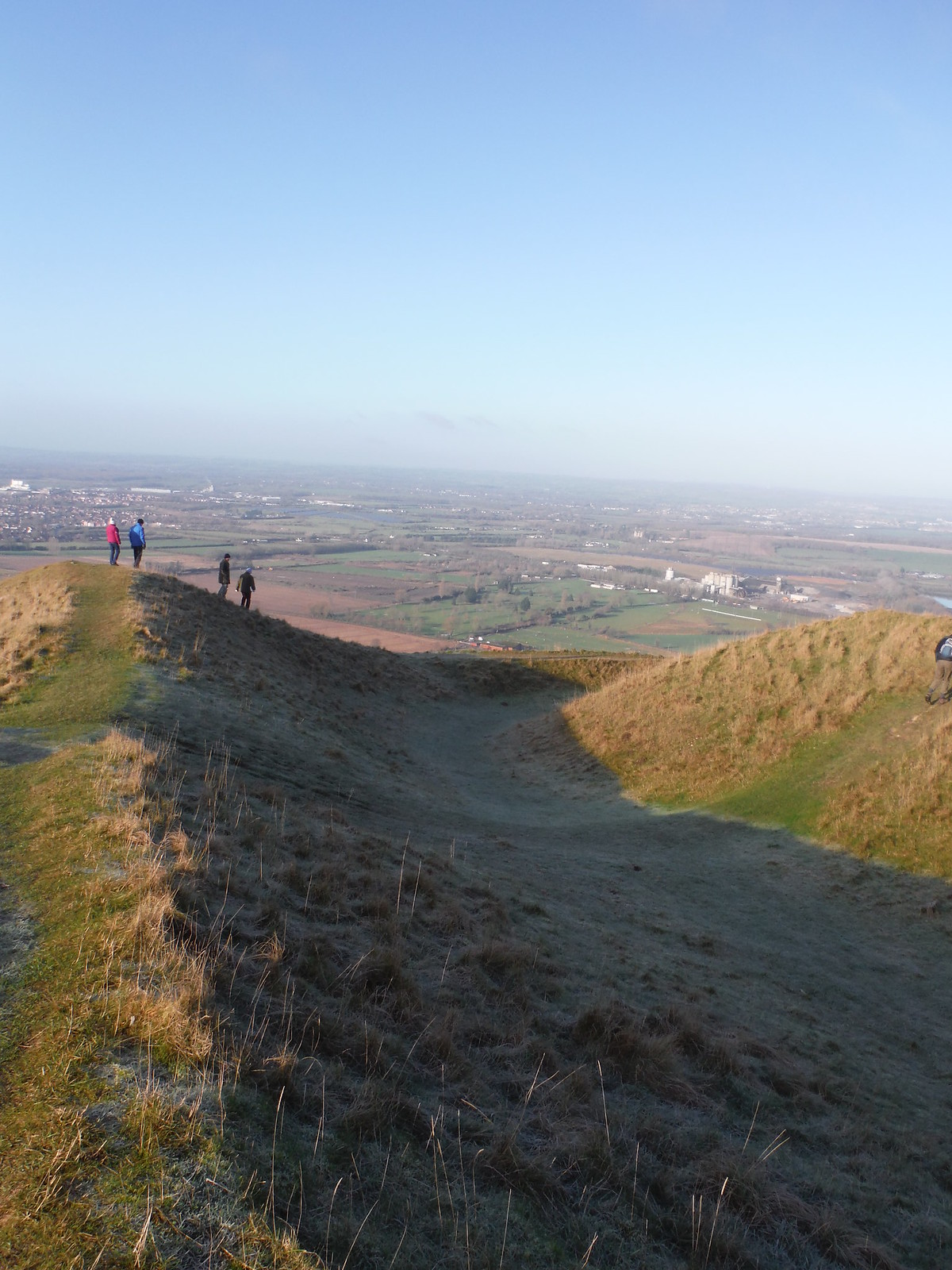 Long Barrow on Bratton Castle/Camp SWC Walk 286 Westbury to Warminster (via Imber Range)