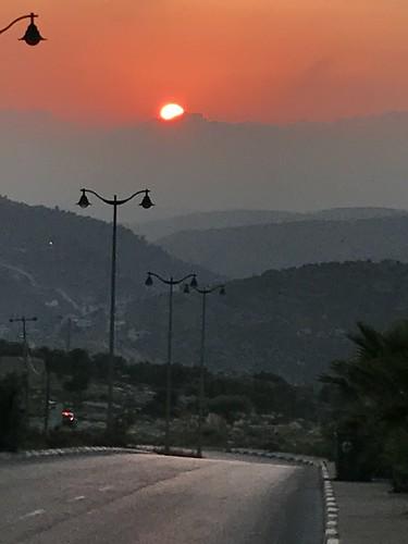 landscape sunset palestine ramallah