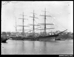 Image of a four masted barque LYDERHORN at anchor