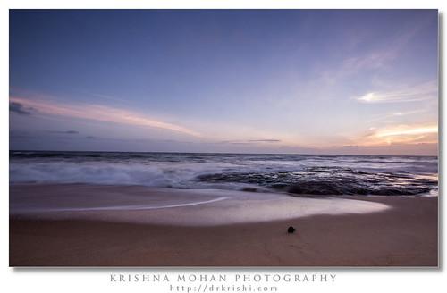 sunset india beach clouds asia waves karnataka mangalore slowshutterspeed aftersunset dakshinakannada someshwara ullala