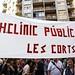 10_10_2013 Protesta de sanidad por la privatización del Hospital Clicico de Barcelona