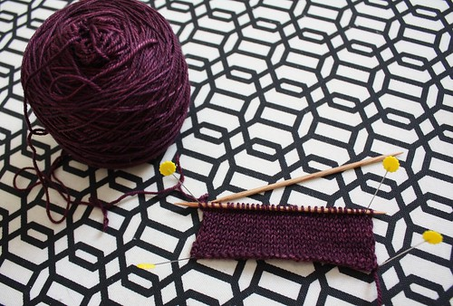 Swatch of Zen Yarn Garden in prepartion for a new cardigan | by Everyday Fray