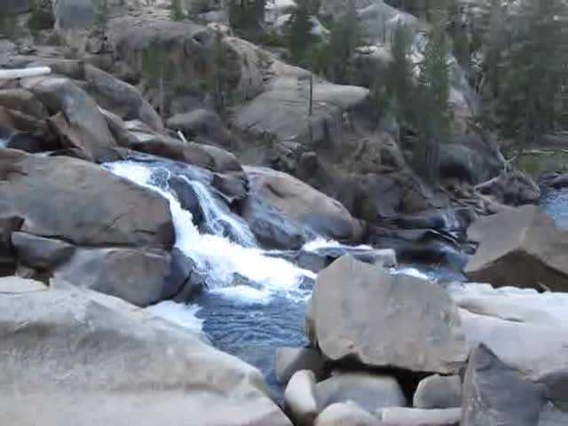 3356 Video of small rapids on the Tuolumne River between California Falls and LeConte Falls