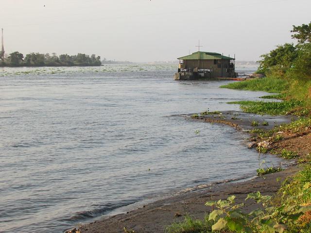 Río Magdalena en en Magangué, Colombia