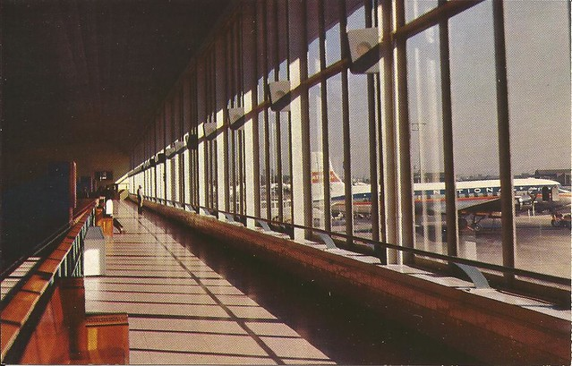 Newark Airport (EWR) postcard - circa late 1950's/early 1960's