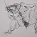 """""""Figura humana masculina nua""""./""""Naked human male figure"""". Lápis sobre papel/Pencil on paper, 1986."""
