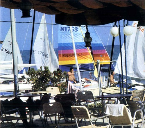 Terrassa del Club Nàutic, any 1989.