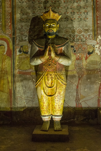 Statue of King Nissanka Malla, Cave 3, Dambulla Cave Temple, Sri Lanka | by Peter Cook UK