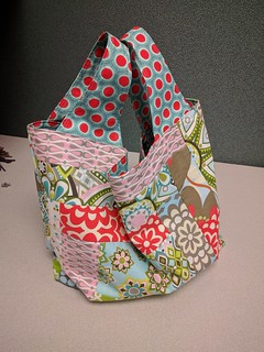 Patchwork Grocery Bag Side 2