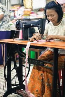 Yangon seamstress