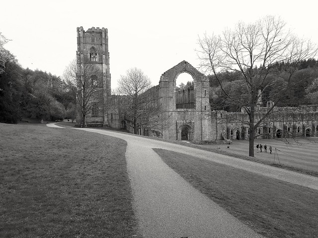 Fountain's Abbey, North Yorkshire. (Mobile phone shot.)
