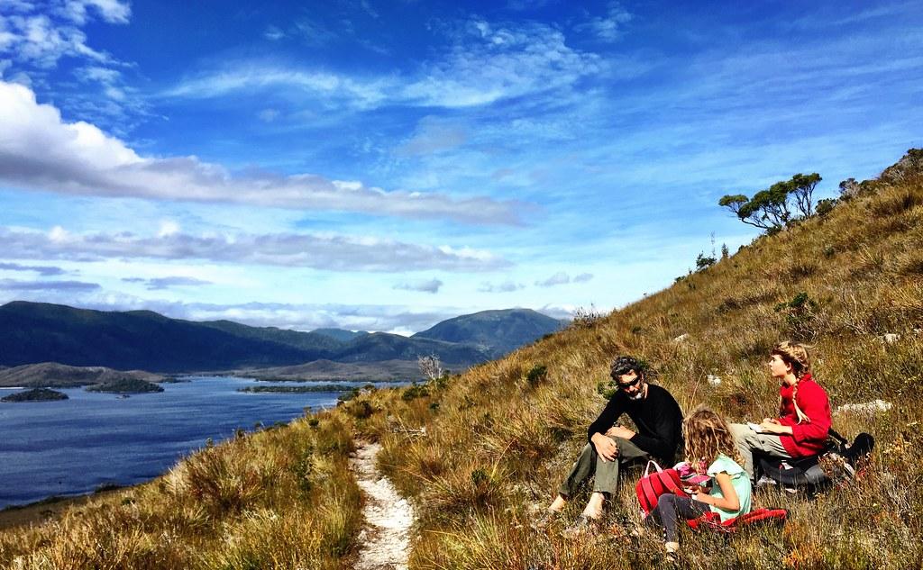 Halfway toward Mt Beattie. Clayton's Corner, Port Davey. Tasmania.