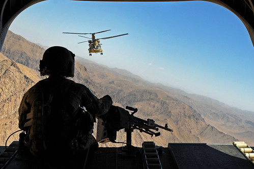 Rear door gunner view | by The U.S. Army