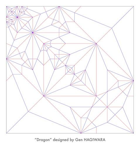 ドラゴン 展開図 / Dragon crease pattern | by Gen Hagiwara