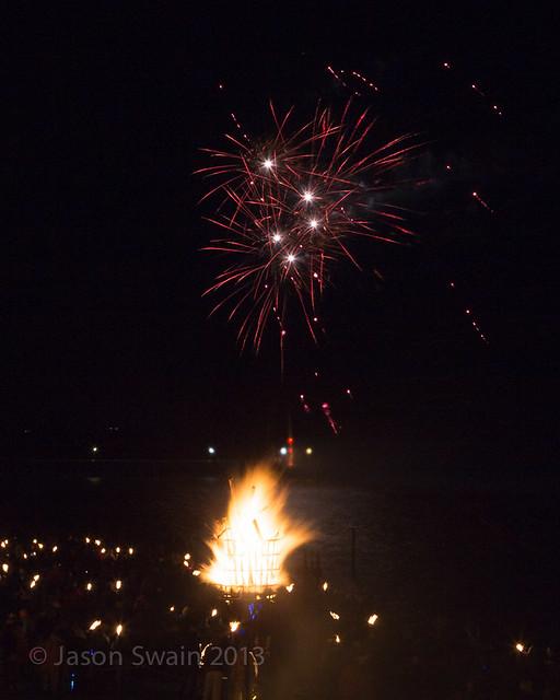 Bonfire night firework party, Yarmouth, Isle of Wight - IMG_5698