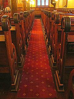 Down the aisle