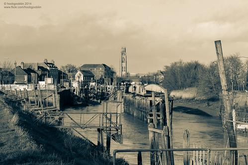 uk boston river boat dock crane lincolnshire fishingboat swingbridge witham trainbridge railbridge robcharles hoobgoobliin flickrcomhoobgoobliin flickrcomphotoshoobgoobliin