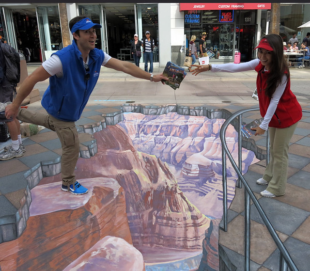 Grand Canyon in 3d Chalk
