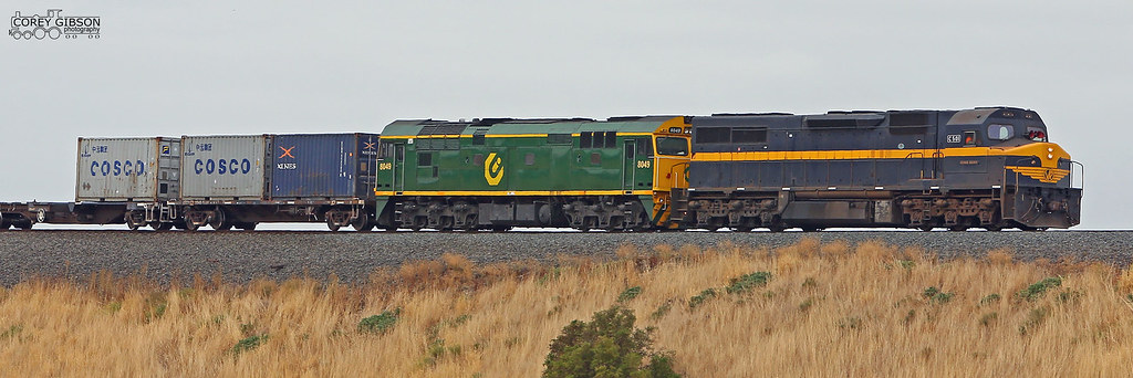 9719V Down Horsham QUBE freight with C501 & 8049 by Corey Gibson
