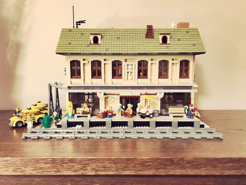 Lego Train Station MOC   Gabor Kovacs   Flickr