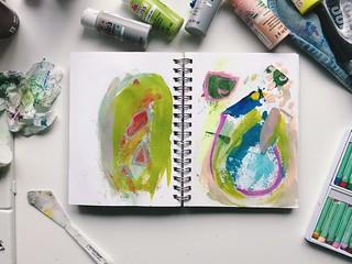 Abstract Painting 3/25/17   by Tamara Hala