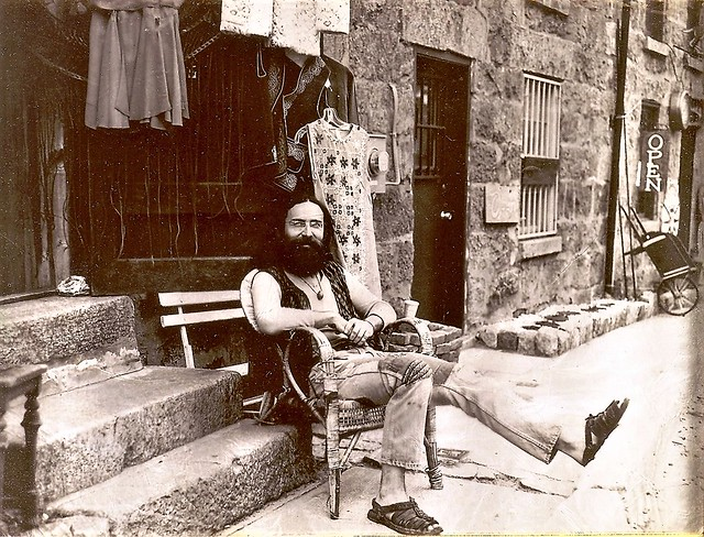 Hippie owner of