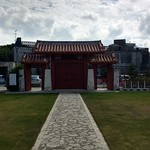 Gate of the Confucian Temple Viewed from inside the temple grounds.