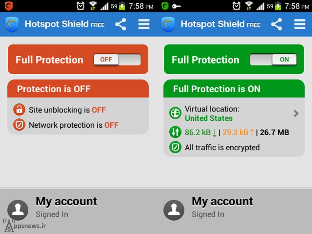 دانلود hotspot shield کرک شده برای ویندوز 7