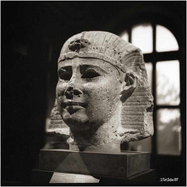 Ägyptische Büste_Rolleiflex 3.5B
