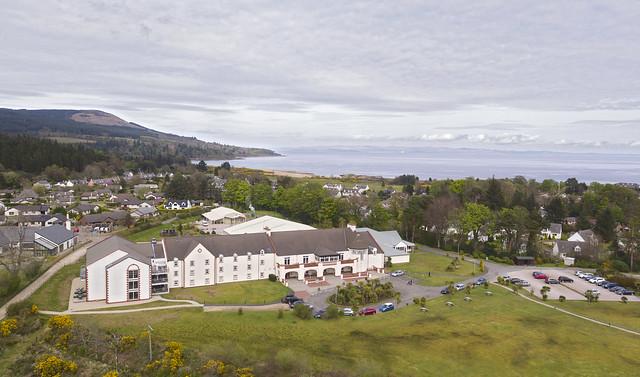 DJI_0036 Auchrannie Resort Brodick Isle of Arran aerial image by Aaron Sneddon