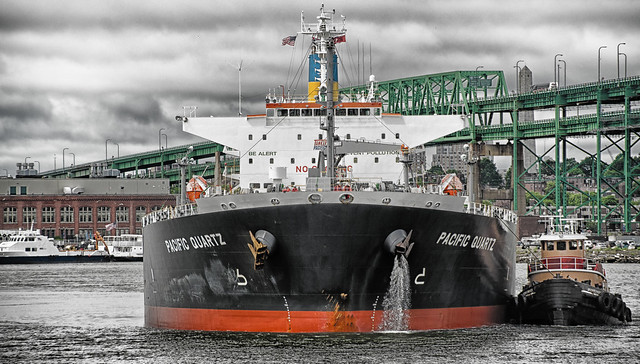 Tanker and Tug Approaching