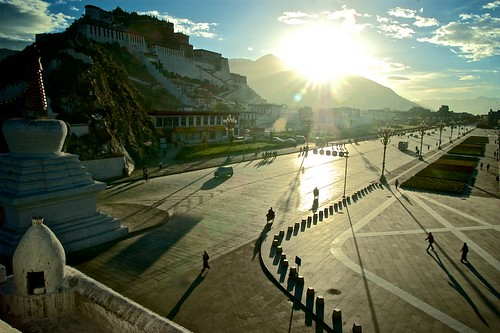 china morning travel summer tourism museum sunrise religion culture tibet lhasa