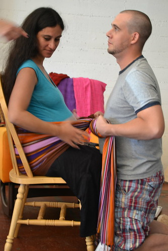 Berkeley Ca Rebozo Workshop with Gena Kirby | by greendoula
