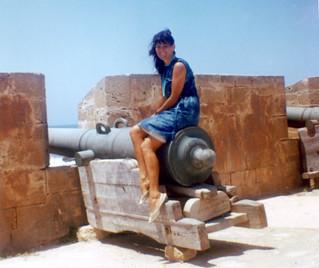 Maroc 1964, Remparts Mogador / Essaouira. Nellie Menjoulet