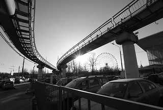 Moscow monorail road
