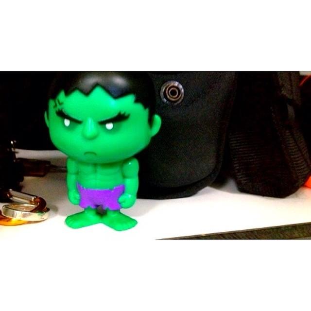 That's how I felt last week    臉青青。 #green #hulk | Justin See