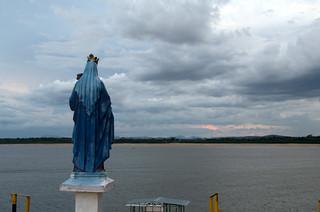 The Virgin of Puerto Carreño looking towards Orinoco river