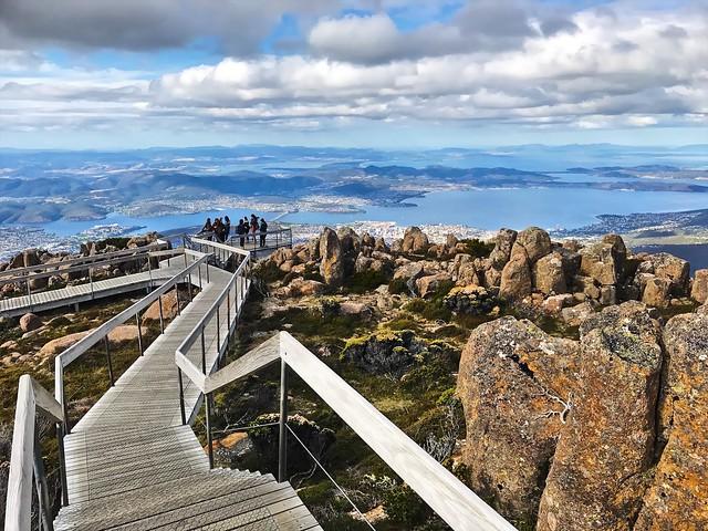 Hobart from Mount Wellington, Tasmania, Australia (April 2017)