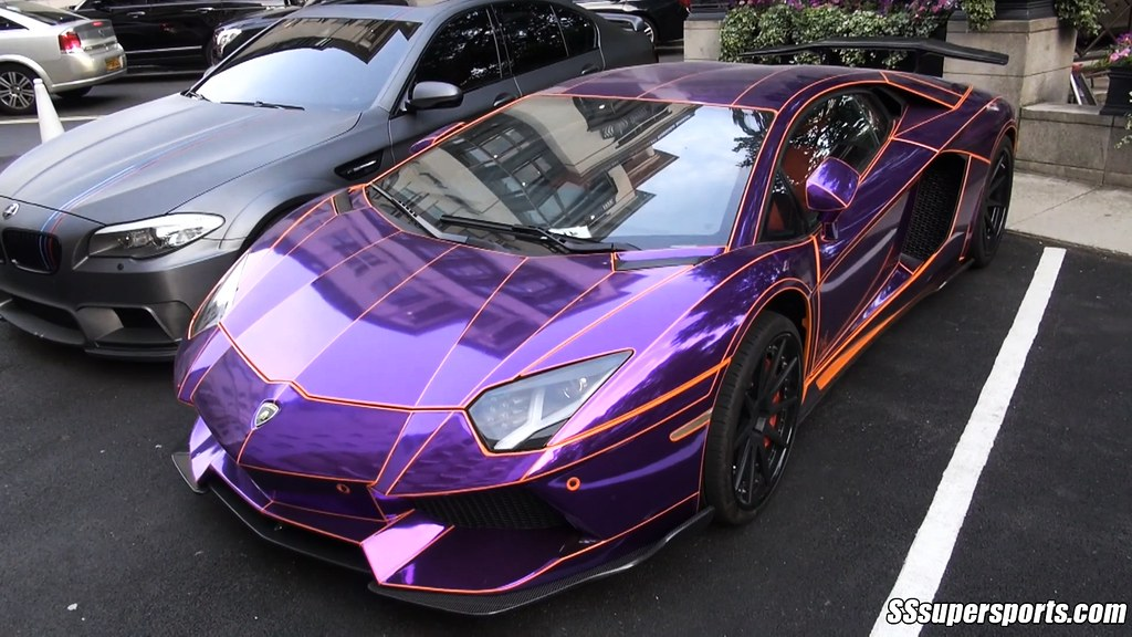 Crazy Chrome Purple Lamborghini Aventador Sssupersports Flickr