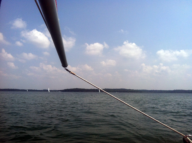 Stockton Lake - Heading in about 3pm. Other boats were starting to head out more, we'd been out for half a day already.
